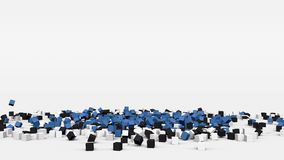 La bandiera dell'Estonia ha creato dai cubi 3d al rallentatore illustrazione di stock