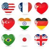 La bandiera dell'insieme Cuore di vetro Illustrazione di vettore royalty illustrazione gratis