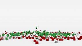 La bandiera dell'Iran ha creato dai cubi 3d al rallentatore illustrazione di stock