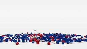 La bandiera dell'Islanda ha creato dai cubi 3d al rallentatore illustrazione vettoriale