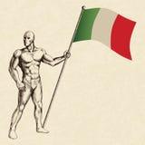 La bandiera dell'Italia Fotografia Stock