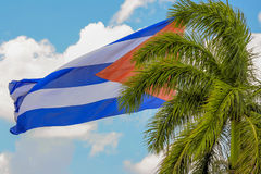 La bandiera della Cuba in Santa Clara Fotografie Stock