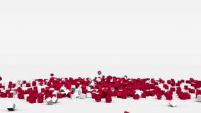La bandiera della Danimarca ha creato dai cubi 3d al rallentatore illustrazione vettoriale