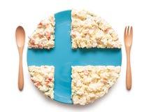 La bandiera della Finlandia ha fatto di insalata Immagine Stock Libera da Diritti