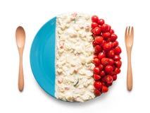 La bandiera della Francia ha fatto del pomodoro e dell'insalata Immagini Stock