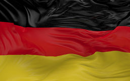 La bandiera della Germania che ondeggia nel vento 3d rende Fotografie Stock