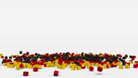 La bandiera della Germania ha creato dai cubi 3d al rallentatore illustrazione vettoriale