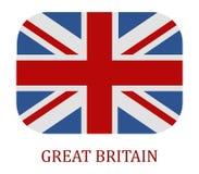 La bandiera della Gran-Bretagna ha illustrato Fotografia Stock