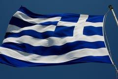 La bandiera della Grecia è stata adottata ufficialmente dal primo cittadino immagini stock