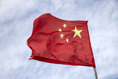 La bandiera della Repubblica popolare cinese Immagini Stock