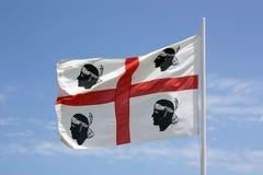 La bandiera della Sardegna - sarda di bandiera della La - la bandiera delle quattro m. Immagine Stock