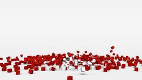 La bandiera della Svizzera ha creato dai cubi 3d al rallentatore illustrazione vettoriale