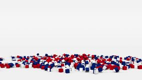 La bandiera della Tailandia ha creato dai cubi 3d al rallentatore illustrazione di stock