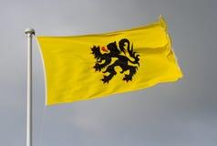La bandiera delle Fiandre Immagini Stock Libere da Diritti