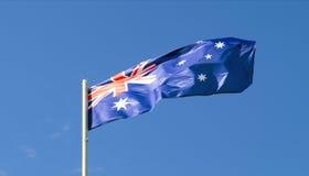 La bandiera dello stato di paese dell'Australia Fotografia Stock