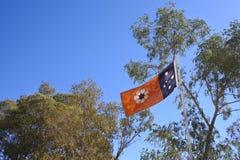 La bandiera dello stato di Territorio del Nord mette sul giorno del territorio fotografia stock