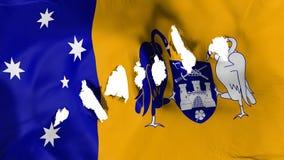La bandiera di Canberra ha perforato, fori di pallottola royalty illustrazione gratis