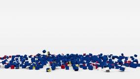 La bandiera di Capo Verde ha creato dai cubi 3d al rallentatore illustrazione vettoriale
