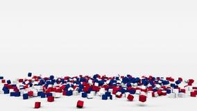 La bandiera di Costa Rica ha creato dai cubi 3d al rallentatore royalty illustrazione gratis