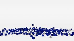 La bandiera di El Salvador ha creato dai cubi 3d al rallentatore illustrazione di stock