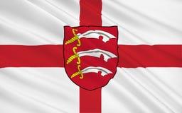La bandiera di Essex è una contea, Inghilterra fotografia stock libera da diritti