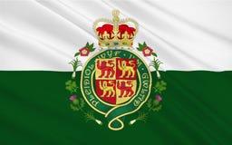 La bandiera di Galles è un paese di cui fa parte del Regno Unito illustrazione vettoriale