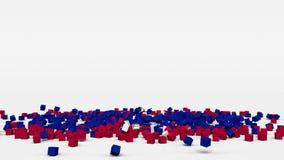 La bandiera di Haiti ha creato dai cubi 3d al rallentatore illustrazione di stock