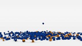 La bandiera di Marshall Islands ha creato dai cubi 3d al rallentatore royalty illustrazione gratis