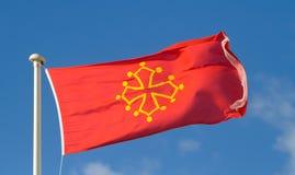 La bandiera di Ocsitania Immagini Stock Libere da Diritti