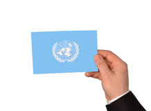 La bandiera di ONU Fotografia Stock