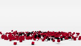 La bandiera di Trinidad And Tobago ha creato dai cubi 3d al rallentatore illustrazione vettoriale
