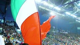 La bandiera di vista di fine del movimento lento ha ondeggiato dal fan di hockey al gioco video d archivio