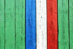 La bandiera francese dipinta su legno Fotografia Stock