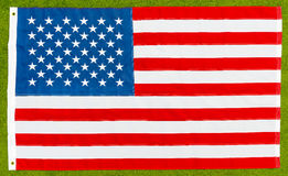 La bandiera nazionale degli Stati Uniti Immagine Stock Libera da Diritti
