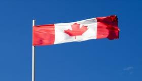 La bandiera nazionale del paese del Canada Immagine Stock Libera da Diritti