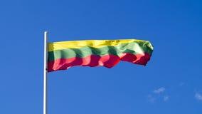 La bandiera nazionale del paese Lituania Fotografia Stock Libera da Diritti
