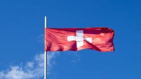 La bandiera nazionale del paese Svizzera Fotografia Stock