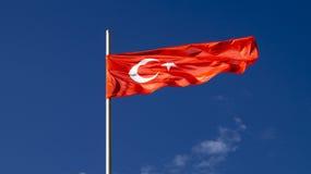 La bandiera nazionale del paese Turchia Fotografia Stock