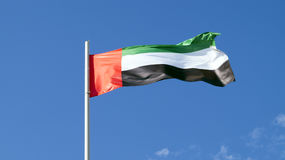 La bandiera nazionale del paese uae Immagini Stock Libere da Diritti