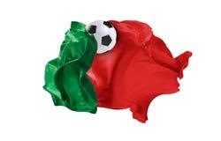 La bandiera nazionale del Portogallo Coppa del Mondo della FIFA La Russia 2018 Fotografia Stock Libera da Diritti