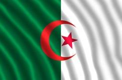 La bandiera nazionale dell'Algeria royalty illustrazione gratis