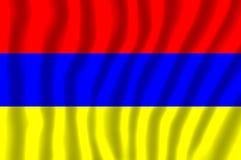 La bandiera nazionale dell'Armenia illustrazione di stock
