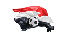 La bandiera nazionale dell'Egitto Coppa del Mondo della FIFA La Russia 2018 Fotografia Stock Libera da Diritti