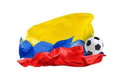La bandiera nazionale di Colombia Coppa del Mondo della FIFA La Russia 2018 Fotografia Stock