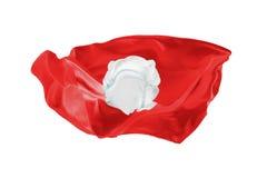 La bandiera nazionale di Tunisi Coppa del Mondo della FIFA La Russia 2018 Fotografie Stock Libere da Diritti