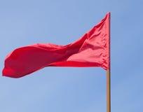 La bandiera rossa Fotografie Stock
