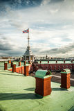 La bandiera russa della fortezza Fotografia Stock