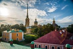 La bandiera russa della fortezza Immagine Stock Libera da Diritti