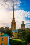 La bandiera russa della fortezza Fotografia Stock Libera da Diritti