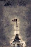La bandiera russa della fortezza Immagini Stock